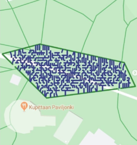 Maze in Kuppita Park difficult