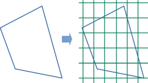 Covering a polygon with a uniform grid