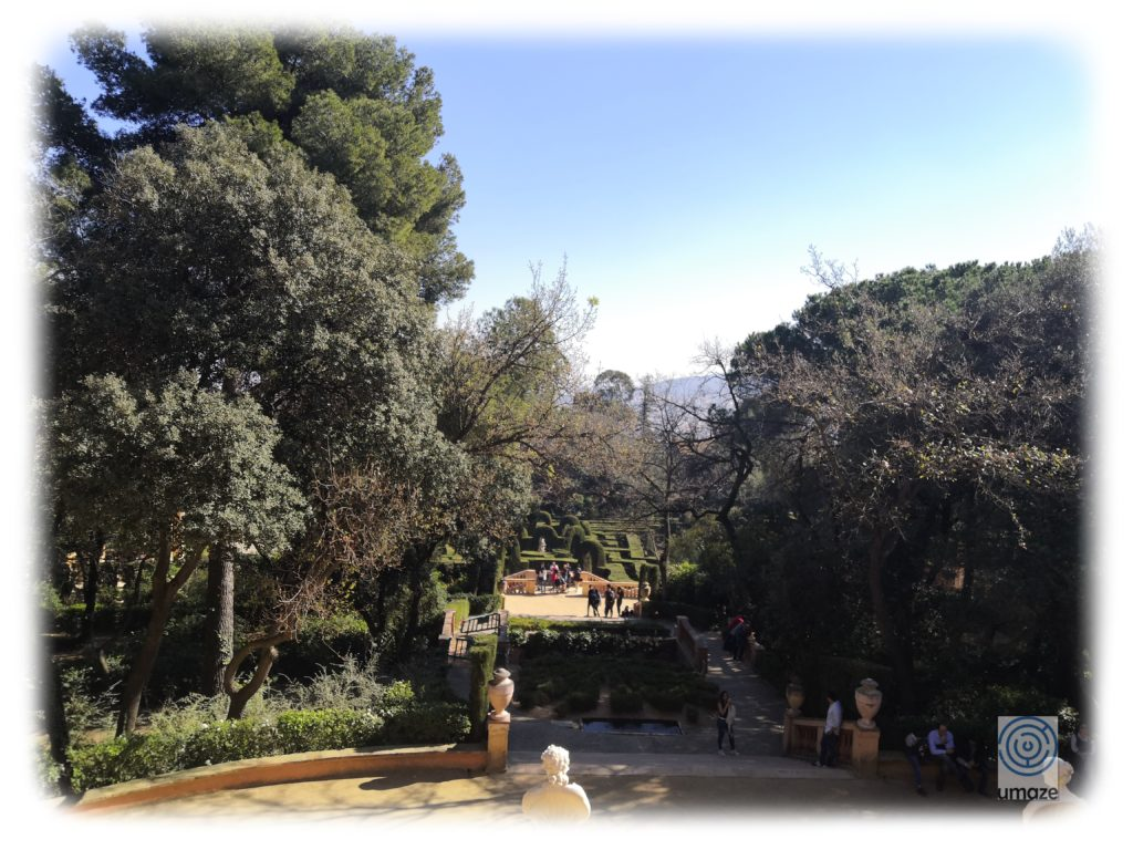 View Laberint d'Horta from the third terrace